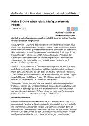 derStandard.at - Österreichische Gesellschaft für Unfallchirurgie