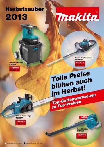Tolle Preise blühen auch im Herbst! - W.Hartmann & Co.