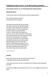 Predigt über Jesaja 43, 19-21 - Ev.-ref. Kirchengemeinde Lüneburg ...