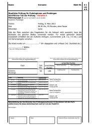 Name Vorname Blatt-Nr. A 1 von A 8 Staatliche Prüfung für ...