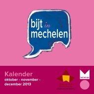 """""""Bijt in Mechelen""""-kalender - Huis van het Nederlands"""