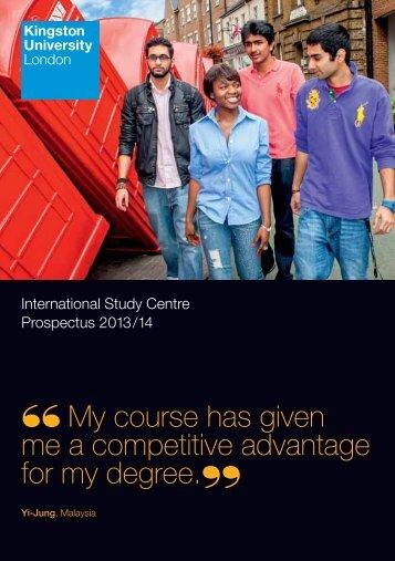 Kingston Prospectus - Study Group