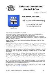 Letzte Info - AFM-Europa
