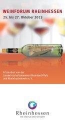 Katalog Weinforum Rheinhessen 2013