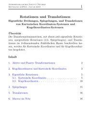 Rotationen und Translationen - Geschichte des Astrophysikalischen ...