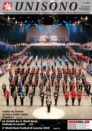 page 16 Im Vorfeld des 6. World Band Festivals in Luzern!