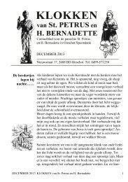 DECEMBER 2013 - Parochie Sint Petrus Oirschot