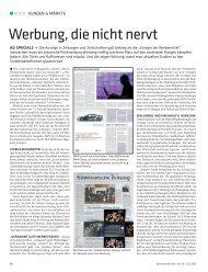 DD_2012_10: KUNDEN & MÄRKTE: WERBUNG DIE ... - Mediascore