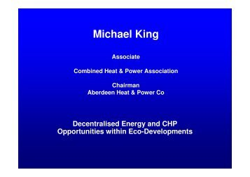 Michael King - Town and Country Planning Association