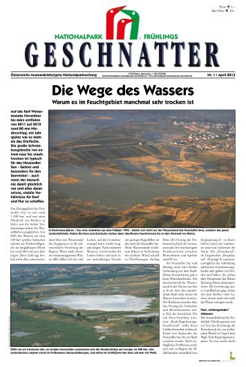 Geschnatter April/2013 - Nationalpark Neusiedler See Seewinkel