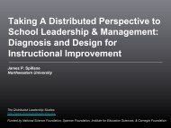 Diagnosis and Design for Instructional Improvement