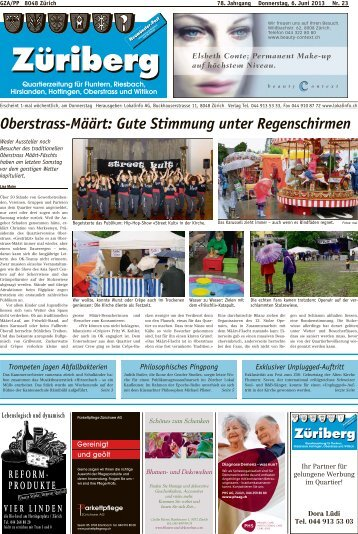Oberstrass-Määrt: Gute Stimmung unter ... - Lokalinfo AG