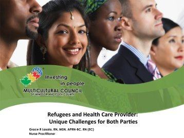 Refugees and Health Care Provider: Unique Challenges for Both ...
