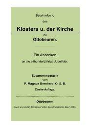 Klosters u. der Kirche - OTTOBEUREN MACHT GESCHICHTE