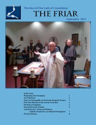 THE FRIAR - Conventual Franciscan Friars