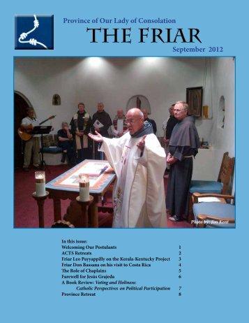 THE FRIAR - Conventual Franciscan Friars