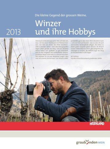 Winzer und ihre Hobbys
