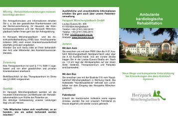 Ambulante kardiologische Rehabilitation - Herzpark ...
