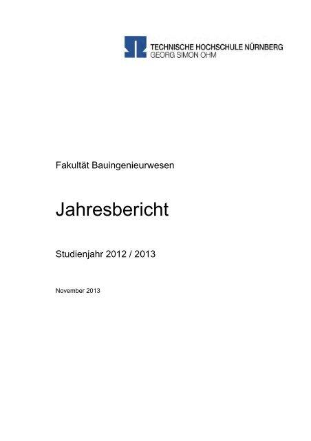 Der Jahresbericht für den Zeitraum 2012/2013 - Georg-Simon-Ohm ...