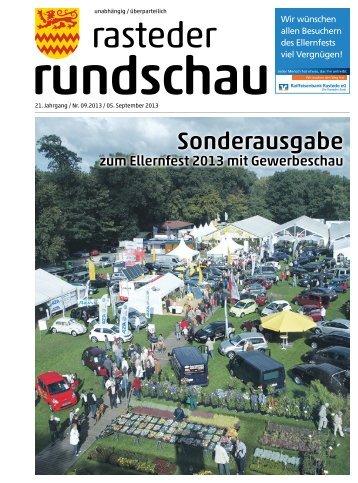rasteder rundschau, Sonderausgabe Ellernfest 2013