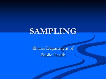 ASEPTIC SAMPLING - Illinois Public Health Association