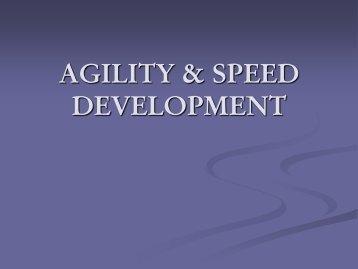 AGILITY & SPEED DEVELOPMENT - GoHuskies.com