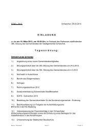 Protokoll 385. Gemeinderatssitzung am 18.März 2013