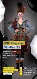 Das Programm Oktober bis Dezember als PDF-Datei - HNF