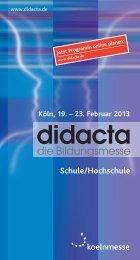 Schule/Hochschule - Didacta