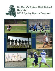 Spring 2013 - St. Mary's Ryken High School