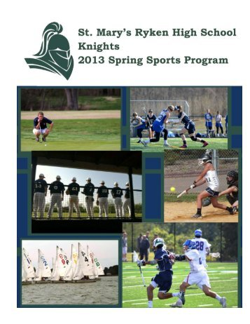 Spring 2013 - St. Mary's Ryken High School