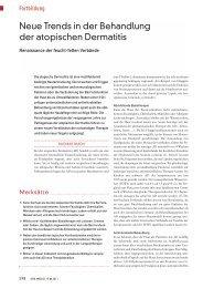 Neue Trends in der Behandlung der atopischen Dermatitis