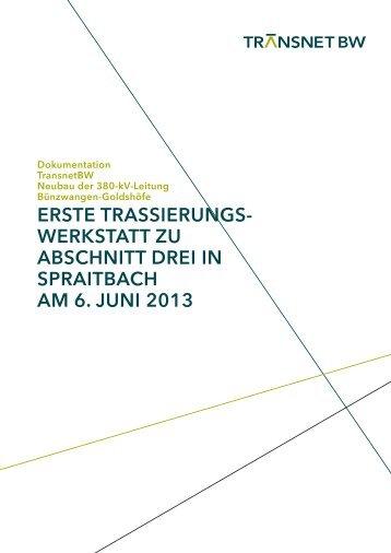 Doku. 1. Trassierungswerkstatt zu Abschnitt 3 in Spraitbach am 6 ...
