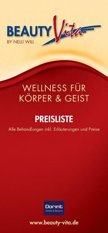 BeautyVita Preisliste - Dorint · Hotel & Sportresort · Arnsberg ...