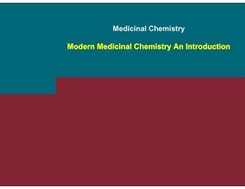Intro Modern Medicinal Chemistry - RCMD