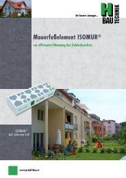 Mauerfußelement ISOMUR® - JORDAHL & H-BAU Österreich