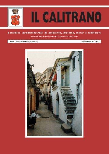 periodico quadrimestrale di ambiente, dialetto, storia e ... - Ilcalitrano.it
