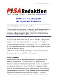 LRS, Legasthenie, Dyskalkulie - PISA-Training