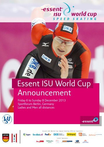 Announcement Essent ISU World Cup - Net