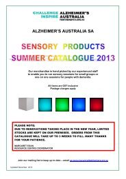 Sales Catalogue - Alzheimer's Australia
