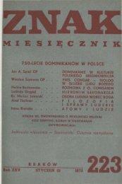 Nr 223, styczeń 1973 - Znak