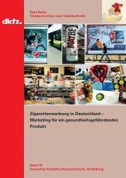 Zigarettenwerbung in Deutschland – Marketing für ein - Dkfz