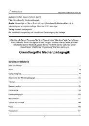 Grundbegriffe Medienpädagogik - Mediaculture online