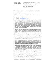 DAAD - 中国留德学人数学与应用数学学会(GCMA,www.gcma-ev.de)