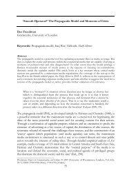 The Propaganda Model and Moments of Crisis - Des Freedman