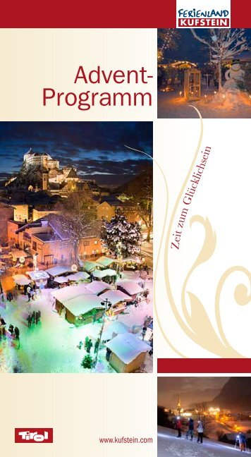 Advent- Programm - Advent in Tirol