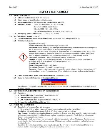 SAFETY DATA SHEET - Tool Chemical Company