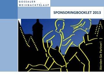 Sponsoringbooklet 2013 - Gossauer Weihnachtslauf