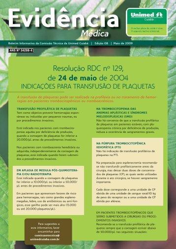Resolução RDC nº 129, de 24 de maio de 2004 - Unimed Cuiabá