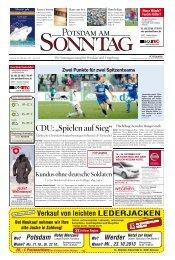 """CDU: """"Spielen auf Sieg"""" - Potsdamer Neueste Nachrichten"""